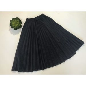 OAK+FORT Accordion Style Gray Skirt One Size